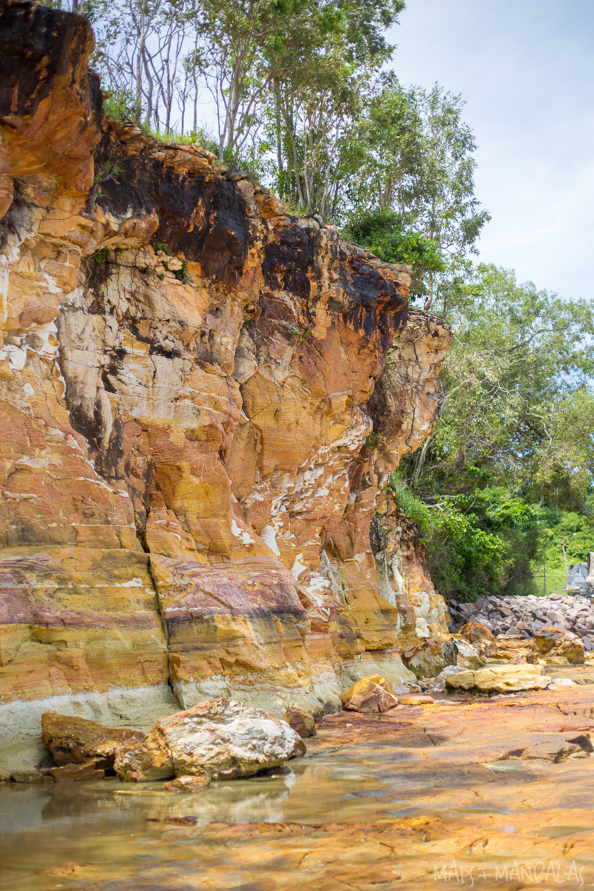 Painted Cliffs at Vesteys Beach